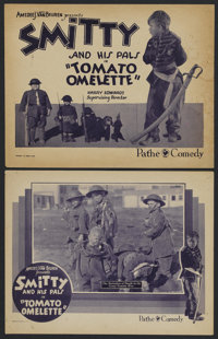 """Tomato Omelette (Pathe', 1920s). Title Lobby Card (11"""" X 14"""") and Lobby Card (11"""" X 14""""). Short Subj..."""