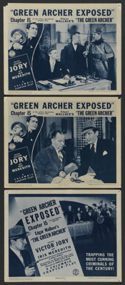 "The Green Archer (Columbia, 1940). Chapter 15 -- ""Green Archer Exposed."" Title Lobby Card (11"" X 14""..."