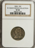 Bust Quarters: , 1836 25C VF30 NGC. B-3, Ex: Jules Reiver Collection. NGC Census:(4/86). PCGS Population (9/79). Mintage: 472,000. Numismed...