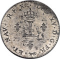 Colonials, 1744-A French Colonies Sou Marque AU55 NGC....