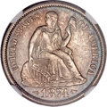 Seated Dimes, 1874-S 10C Arrows MS64 NGC....