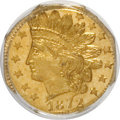 California Fractional Gold: , 1872 25C Indian Octagonal 25 Cents, BG-791, R.3, MS65 PCGS. PCGSPopulation (15/3). NGC Census: (13/5). (#10618)...