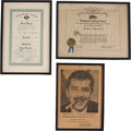 Movie/TV Memorabilia:Awards, Ernie Kovacs Assorted Awards.... (Total: 3 Items)