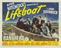 "Movie Posters:War, Lifeboat (20th Century Fox, 1944). Title Lobby Card (11"" X 14"")....."