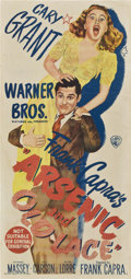 """Movie Posters:Comedy, Arsenic and Old Lace (Warner Brothers, 1944). Australian Daybill(13"""" X 28"""").. ..."""