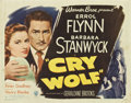 """Movie Posters:Mystery, Cry Wolf (Warner Brothers, 1947). Half Sheets (2) (22"""" X 28"""")Styles A and B.. ... (Total: 2 Posters)"""