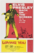 """Movie Posters:Elvis Presley, Loving You (Paramount, R-1959). One Sheet (27"""" X 41"""").. ..."""