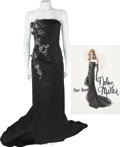 Movie/TV Memorabilia:Costumes, Nolan Miller Designed Black Satin Gown for Ann-Margaret.... (Total:2 )