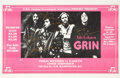 Music Memorabilia:Posters, Grin Autographed Concert Poster (G.W.U. Student Gov. Assoc.,1972)....