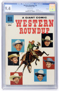 Silver Age (1956-1969):Western, Dell Giant Comics - Western Roundup #18 File Copy (Dell, 1957) CGC NM 9.4 Off-white pages....