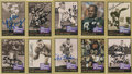 Football Collectibles:Others, 1991 Pro Football Hall of Fame Signed Card Collection (23). ...