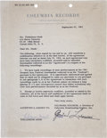 Music Memorabilia:Autographs and Signed Items, Thelonious Monk Signed Contract....