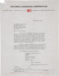 Music Memorabilia:Autographs and Signed Items, Heitor Villa-Lobos Signed Contract....