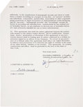 Music Memorabilia:Autographs and Signed Items, Pablo Casals Signed Contract....