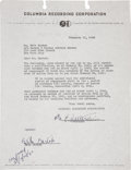 Music Memorabilia:Autographs and Signed Items, Bela Bartok Signed Contract....