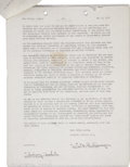 Music Memorabilia:Autographs and Signed Items, Sidney Bechet Signed Contract....