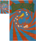 Music Memorabilia:Posters, Jefferson Airplane/Grateful Dead Concert Poster and Postcard Group(Winterland, 1970).... (Total: 2 Items)