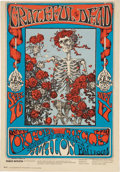 Music Memorabilia:Posters, Grateful Dead Skeleton and Roses Concert Poster FD-26-3(Family Dog, 1966)....
