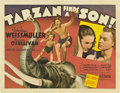 "Movie Posters:Adventure, Tarzan Finds a Son (MGM, 1939). Half Sheet (22"" X 28"").. ..."