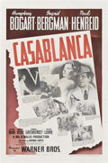 "Movie Posters:Drama, Casablanca (Warner Brothers, 1942). One Sheet (27"" X 41"").. ..."