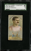 "Boxing Cards:General, 1887 N184 W.S. Kimball ""Champions"" Jem Smith SGC 40 VG 3...."