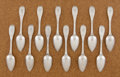 Silver Flatware, American:Ball Black , A SET OF TWELVE AMERICAN COIN SILVER TEASPOONS. Ball, Tomkins &Black , circa 1840. Marks: BALL, TOMKINS & BLACK, PATENT1... (Total: 12 Items)