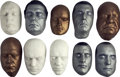 Movie/TV Memorabilia:Memorabilia, Assorted Actors Life Masks, Set of Ten.... (Total: 10 Items)