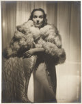 Movie/TV Memorabilia:Autographs and Signed Items, Carole Lombard Signed Photo....