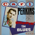 Music Memorabilia:Autographs and Signed Items, Carl Perkins' Signed Record (Topline Records 107, 1984)....