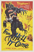 """Movie Posters:Horror, From Hell it Came (Allied Artists, 1957). One Sheet (27"""" X 41"""").. ..."""