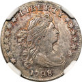Early Dimes, 1798 10C Large 8 AU58 NGC....