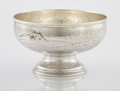Silver Holloware, American:Bowls, AN AMERICAN SILVER AND SILVER GILT FOOTED BOWL. Tiffany & Co.,New York, New York, circa 1877. Marks: TIFFANY & CO.,STERL...