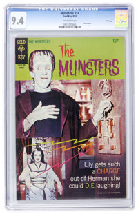 Munsters #14 File Copy (Gold Key, 1967) CGC NM 9.4 Off-white pages