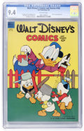 Golden Age (1938-1955):Cartoon Character, Walt Disney's Comics and Stories #162 (Dell, 1954) CGC NM 9.4 Off-white pages....