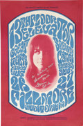 Music Memorabilia:Posters, 13th Floor Elevators/Great Society Concert Poster Autographed by Grace Slick BG-25 (Bill Graham, 1966)....