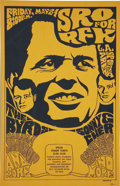 Music Memorabilia:Posters, The Byrds SRO for RFK Benefit L. A. Sports Arena Concert Poster(1968)....