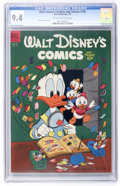 Golden Age (1938-1955):Cartoon Character, Walt Disney's Comics and Stories #161 (Dell, 1954) CGC NM 9.4 Off-white to white pages....