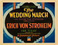 "Movie Posters:Drama, The Wedding March (Paramount, 1928). Title Lobby Card and Lobby Card (11"" X 14"").. ... (Total: 2 Items)"