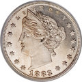 Patterns, 1883 5C Liberty Head Five Cents, Judd-1714, Pollock-1919, Low R.6,PR64 Cameo PCGS....