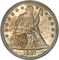 Seated Dollars, 1847 $1 MS64 PCGS....