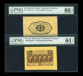 Fractional Currency:First Issue, Fr. 1282SP 25¢ First Issue Wide Margin Pair PMG Gem Uncirculated 66 EPQ and Choice Uncirculated 64 EPQ... (Total: 2 notes)