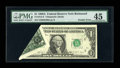 Error Notes:Foldovers, Fr. 1915-E $1 1988A Federal Reserve Note. PMG Choice Extremely Fine45.. ...