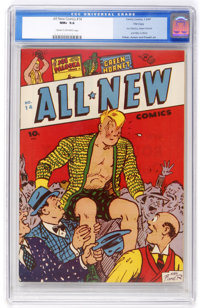 All New Comics #14 File Copy (Family Comics, 1947) CGC NM+ 9.6 Cream to off-white pages