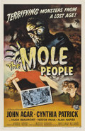 """Movie Posters:Science Fiction, The Mole People (Universal International, 1956). One Sheet (27"""" X 41"""").. ..."""