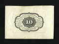 Fractional Currency:First Issue, Fr. 1243SP 10c First Issue Wide Margin Back Extremely Fine-About New....