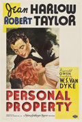 "Movie Posters:Romance, Personal Property (MGM, 1937). One Sheet (27"" X 41"") Style C.. ..."