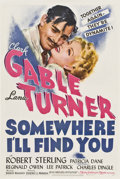 """Movie Posters:Drama, Somewhere I'll Find You (MGM, 1942). One Sheet (27"""" X 41"""") Style D.. ..."""