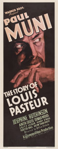 "Movie Posters:Drama, The Story of Louis Pasteur (Warner Brothers, 1935). Insert (14"" X36"").. ..."
