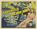 "Movie Posters:Horror, Frankenstein Meets the Wolf Man (Universal, 1943). Title Lobby Cardand Lobby Card (11"" X 14"").. ... (Total: 2 Items)"
