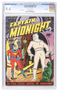 Captain Midnight #26 Crowley Copy pedigree (Fawcett, 1944) CGC NM 9.4 Off-white pages